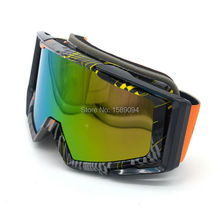 Black Orange Eye Protect Motorcycle Colorful Motocross Helmet Goggles for Off-Road ATV Quad SUV(China)