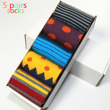 2017 Rushed Casual The New Standard Men's Socks Popular Male Cotton Socks, Free Shipping Colorful Socks.(5 Pair/lot) No Box(China)