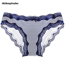 Seamless Low-Rise Women's Sexy Lace Lady Panties Cotton Breathable Panty Briefs Plus Size Girl Underwear 2017 Fshion