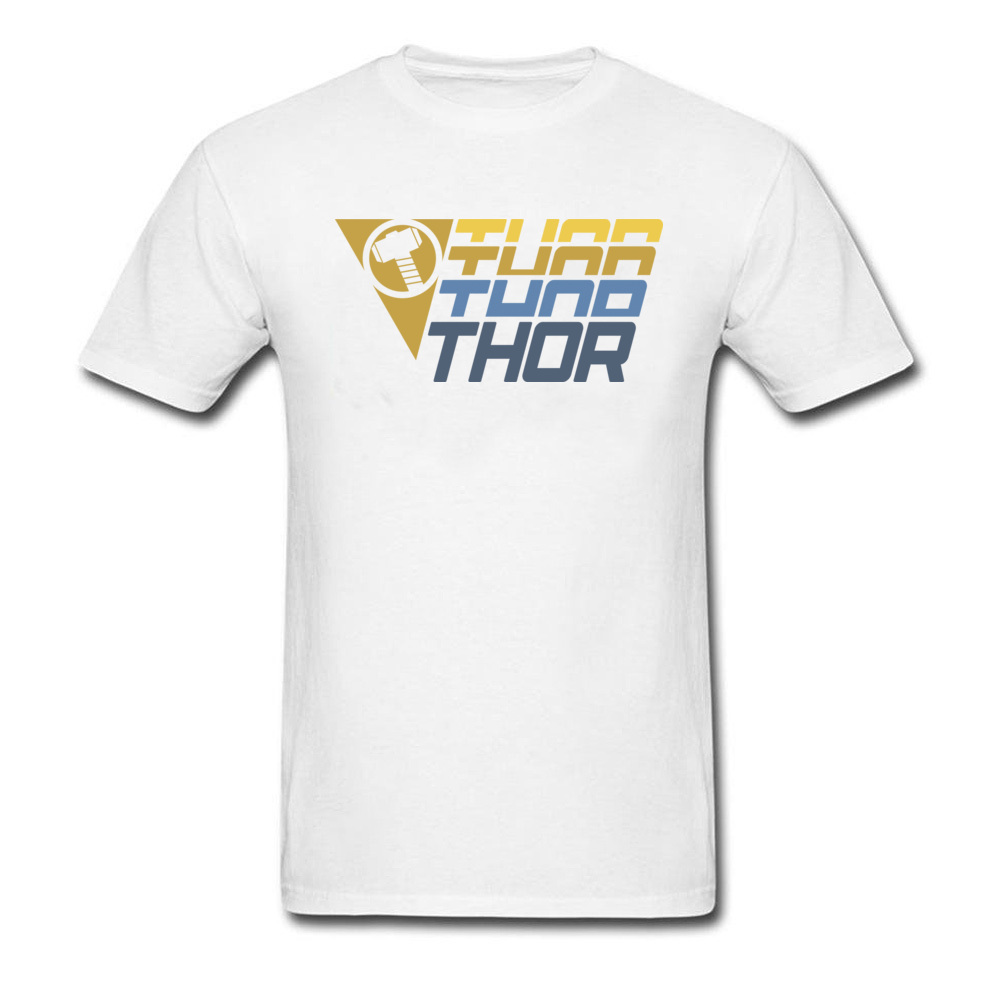 Star Wars Thor Logo Cotton Men Short Sleeve Tops & Tees Funny NEW YEAR DAY T Shirts Geek Tshirts Designer O Neck Thor Logo white
