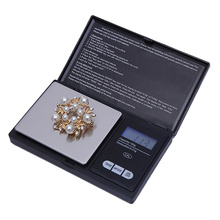 lcd pocket electronic digital kitchen scale scales tools for gold jewelry weigh balance steelyard weighing 200g 0.01g precision(China)