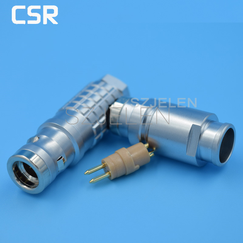 LEMO  Connector 2-pin plug , FHG.1K.302.CLAD,90 degree elbow plug, Waterproof 2 pin plug, Medical Connector<br><br>Aliexpress