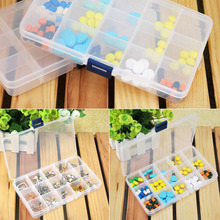 Grids Detachable Plastic Storage Box 15 Compartment Rhinestone Nail Art Tool Case Bead Rings Jewelry Display Organizer(China)