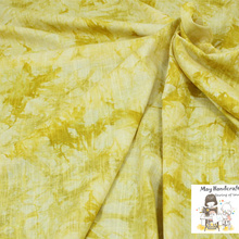 50x140cm Soft Linen Cotton Slub Fabric Lemon Tie-dyed Pattern Fabrics for Sewing Clothes Garments Dress Tissue Cloth 1Pcs/Lot