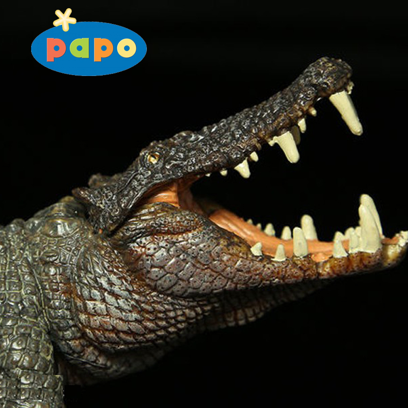 2016 Papo New Boar Croc The Most Classic Ancient Creatures Crocodile Simulation Animal Toy Collection White Decoration<br>