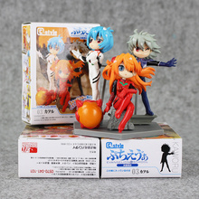 3pcs/set cute eva evangelion rei ayanami pvc great action figures hand done doll eva toy model toy birthday gifts  11cm