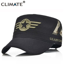 CLIMATE 2017 Men AIRFORCE Army Flat Top Military Caps Five-pointed star Camouflag Cap USA U.S Air Force Army Military Hat Caps(China)