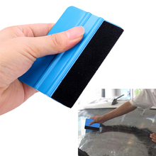 Car Sticker Wrapping Scraper Window Cleaning Auto Care PP High Quality with Cloth 3M Felt Squeegee Glass Clean Car Wrap Tools(China)