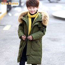 -30 degrees 2017 kids winter jacket for boys children's Down Jackets Garment Child Long Coat parkas clothes Thick Hooded Outwear(China)
