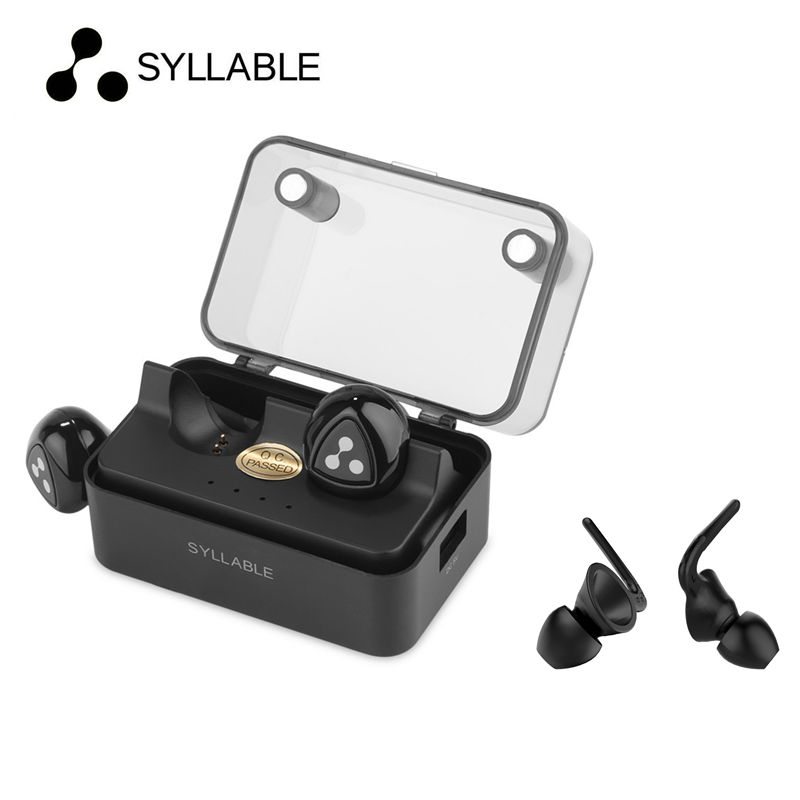 24 Hours Shipping Black Syllable D900MINI Wireless Bluetooth earphones with Mic Bluetooth Devices with Intelligent Charging Box<br>