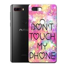 Printed Customize Anti-Finger TPU Case ZTE Nubia M2 Lite Z11 Z18 Mini S V18 Max Z17S Z17 Lite MiniS N2 Durable Soft Cover