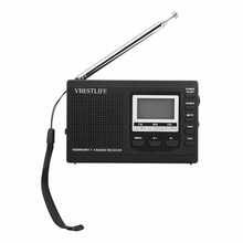 VBESTLIFE Portable Mini Radio Emergency Stereo FM Broadcasting Player FM MW SW Receiver With Digital Alarm Clock(China)