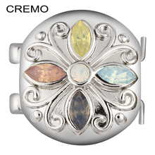 Cremo Elastic Connector Flower Zircon Decoration Changeable Clasp Modular Charm Inventive Bracelet Jewelry Accessories For Woman(China)
