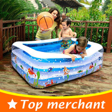 2017 Baby Swimming Pool Inflatable Pool Large Plastic Swimming Pool Square Inflatable Swimming Pool Children Basin Bathtub YP02L(China)