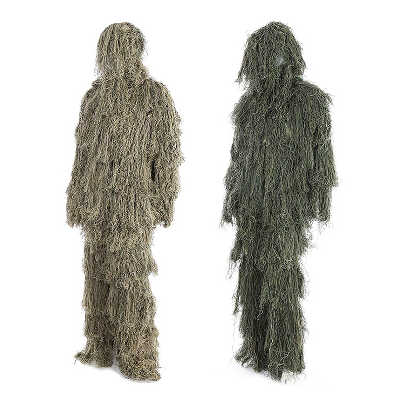 3D-Woodland-Hunting-Clothes-Camouflage-Suits-Ghillie-Suit-For-Hunting-Army--Tactical-Sniper-Set-Kits