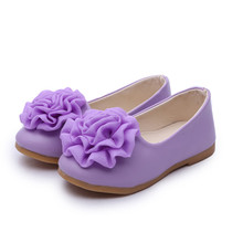 Buy 2016 Spring Children Leather Sandals Sweet Lovely Flower Girls Princess Shoes Kids Elegant Slip-on Solid Color Single Shoes for $13.49 in AliExpress store