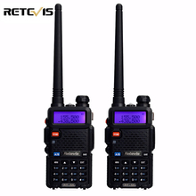 2pcs Professional Walkie Talkie Pair Retevis RT-5R 5W 128CH VOX DTMF Scan UHF VHF Dual Band Radio Portable Ham Radio Comunicador