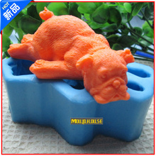 NEW Dog annimal silicone soap mold form for soap Clay mold Salt carving mould DIY wholesale
