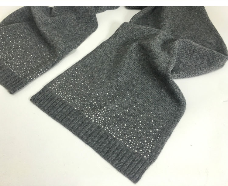 hat scarf set  Scarf, Hat & Glove Sets knitted  winter hat and scarf woman with diamond  (13)
