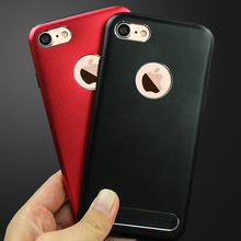 Buy Logo Hole Luxucy Phone Case Cover iPhone 8 7 Plus 6 6s Plus Fundas 6 Colors Black Back Cover Case iPhone 7 7 Plus for $2.99 in AliExpress store