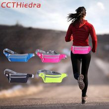 CCTHiedra Waist Belts Workout Fitness Zipper Pouch Cell phone Packs Running Armband bags Sport 4.0-6.0 inch Mobile Phone Bag(China)