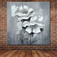 Modern Abstract Flower Hand Painted Wall Oil Painting Nature Canvas Art Large Pictures Home Decor For Living Room (No Frame)(China)