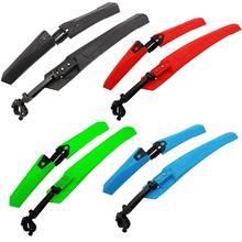 Buy Stylish Mountain Bike Bicycle Fenders Mudguard Set Foldable PA Plastic Bike Front Rear Quick Release Mudguard Cycling Parts for $6.86 in AliExpress store