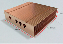 Various Styles 80*80*22mm Pure Copper Radiator Copper Cooling fins Copper fin Can be DIY longer heat sink radiactor fin(China)