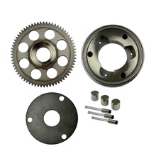 Motorcycle One Way Bearing Starter Clutch Gear & Flywheel & Beads Rollers Assy for SUZUKI GN250 GN 250(China)