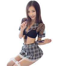 Buy Sexy Lingerie Hot Cosplay Student Uniform Sexy Costumes Sex Underwear Women Maid Porn Lingerie Sexy Hot Erotic Babydoll Dress