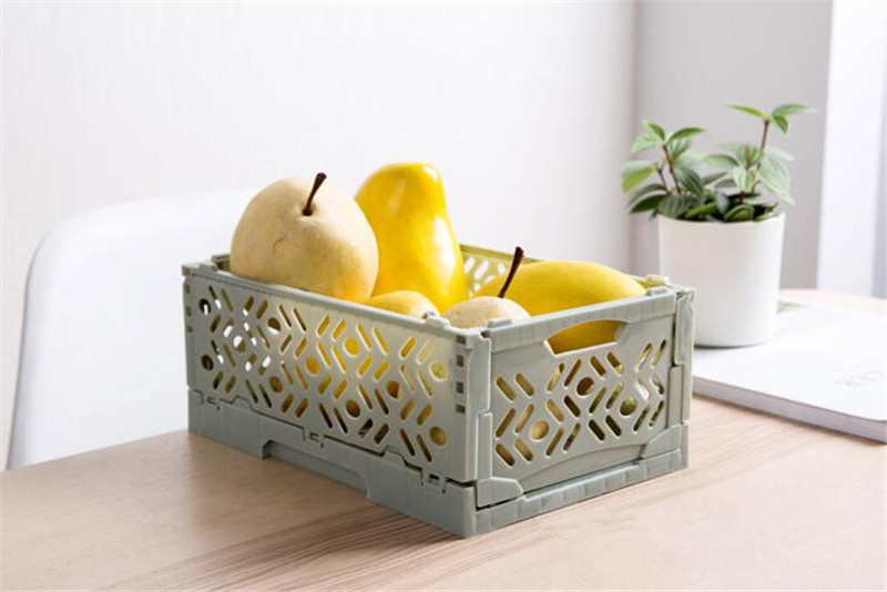 Collapsible Utility Stackable Storage Container Box Storage Basket