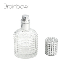Brainbow 30ML Refillable Bottle Travel Portable Empty Perfume Bottle Glass Atomizer Bottle For Spray Scent Pump Diamond Cover(China)