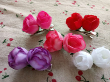 Handmade Pet accessories little rose pet hairpin Dog accessories pet grooming 1pcs