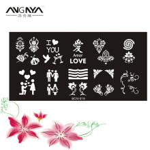 1PC ANGNYA Love Designs Nail Art Stamp Stamping BCN019 Series 6*12CM Nail Art Template For Christmas Gift(China)