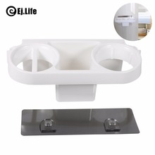 3Cells Multi Wall-mounted Sturdy Alumimum Hair Dryer Shelf Storage Holder Wall Hanger Bathroom Storage Organizer Accessories