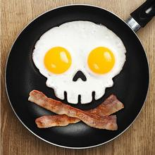 Silicone Skull Fried Egg Mold Mould Poach Oven Pancake Egg Ring Shaper Drop Shipping