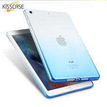 KISSCASE Gradient Tablet Case For Apple iPad Mini 1 2 3 Case 7.9 Ultra Thin Slim Crystal Soft Silicone Cover For iPad Mini 1 2 3(China)