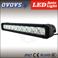 2016 China supplier big discount OVOVS 12inch single row 100w wholesale black housing led off road light bar for truck vehicles
