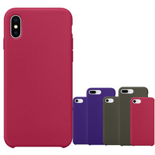 For iPhone X 7 8 10 Plus Original 1:1 Silicone Copy Case Official Design Slim Lightweight Capa Silicon Phone Cover with logo