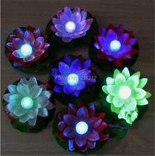Diameter 19 cm LED Lotus Lamp in Colorful Changed Floating Water Pool Wishing Light Lamps Lanterns for Party Decoration