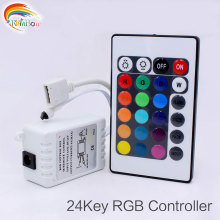 LED RGB Controller DC12V 24Keys IR Remote Controller for SMD 3528 5050 RGB LED Strip Lights LED Controller RGB Colorful