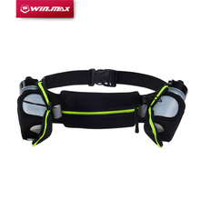 WINMAX New Running Belts Exercise Climbing Camping Cycling Runner Bag Waist Packs with 2 Free Water Bottles for Men & Women(China)