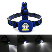 Super Bright Mini COB+LED Headlamp Headlight Flashlight Torch Lamp 3 Models Head Lamp Fishing Light,Use 3 AAA Batteries