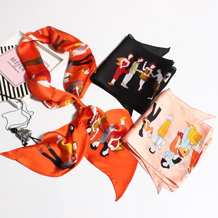 Silk Satin Tie Scarf | Lightweight Scarves