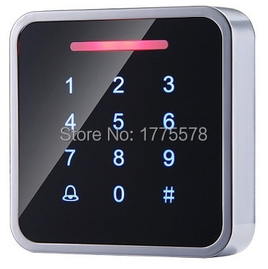 Whole Sale Elegant Metal MF1 Touch Access Control with 3000pcs cards capacity,Touch Keypad, wiegand in and out support<br>