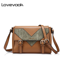 LOVEVOOK brand fashion women shoulder bag female messenger bag high quality ladies crossbody bag satchels serpentine prints(China)