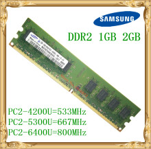 Samsung Desktop memory 1GB 2GB 4GB DDR2 533 667 800MHz PC2-5300 6400U PC RAM 800 6400 2G 240-pin(China)