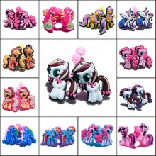 1pair Cartoon My Little Ponnies Girls Hairbands Cute Headwear Hair Accessories PVC+Elastic Bands Kid Party Gift Hair Jewelry