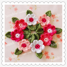 2016 Japanese popular 24 pics natural cotton crochet lace decorative wedding flower with petals party decoration cherry blossom