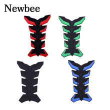 Newbee 3D Motorcycle Anti-scratch Sticker Fuel Tank Pad Oil Gas Protector Motorbike Cover Ornament For kawasaki yamaha suzuki(China)